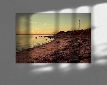 Crépuscule sur une plage de Sjaelland au Danemark sur Michael Moser
