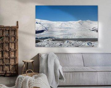 Fjallsárlón gletsjer en gletsjermeer, IJsland van Wigger Tims