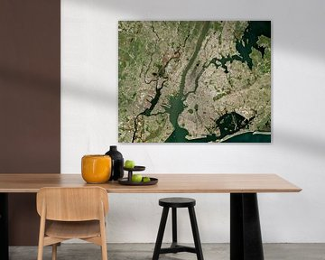 Image satellite de New York City, États-Unis sur Wigger Tims