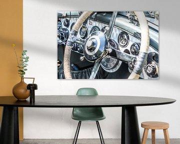 Tableau de bord en aluminium brossé vintage des années 1920 sur Sjoerd van der Wal