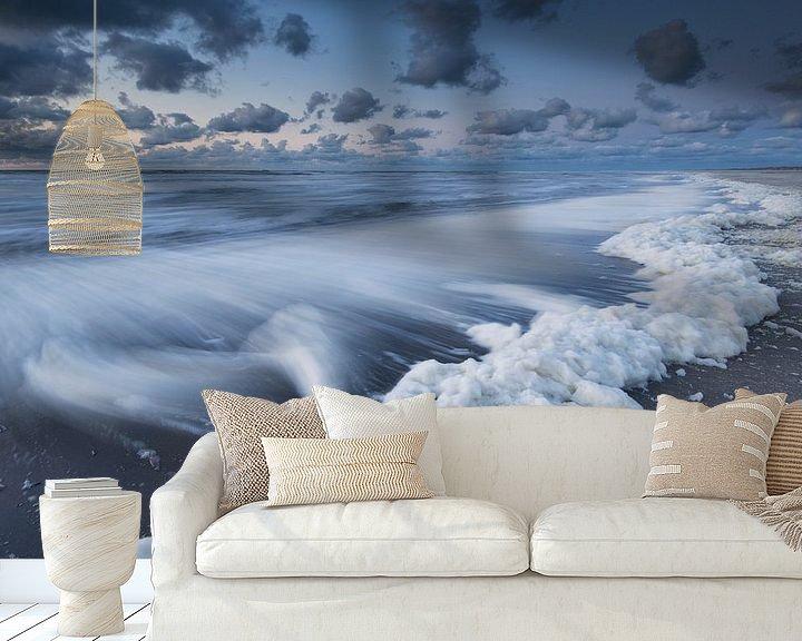 Sfeerimpressie behang: Golven van Raoul Baart
