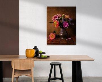 Stilleven met bloemen van Odette Kleeblatt