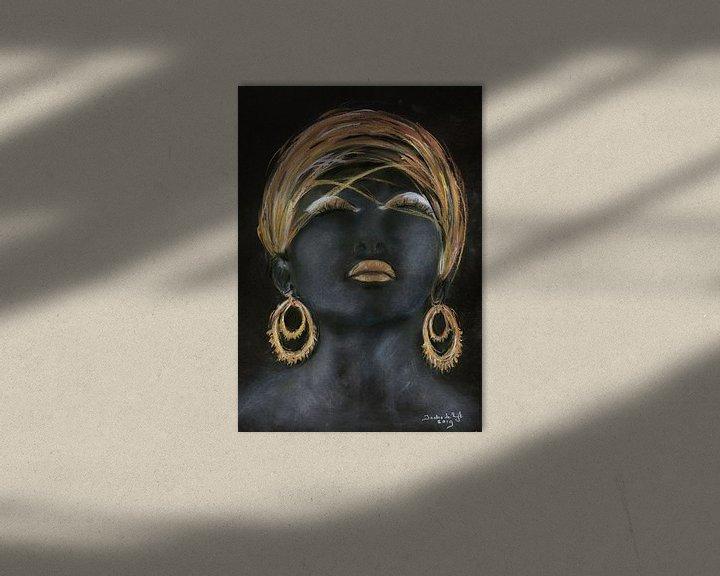 Beispiel: Afrikanische Frau mit Gold. von Ineke de Rijk