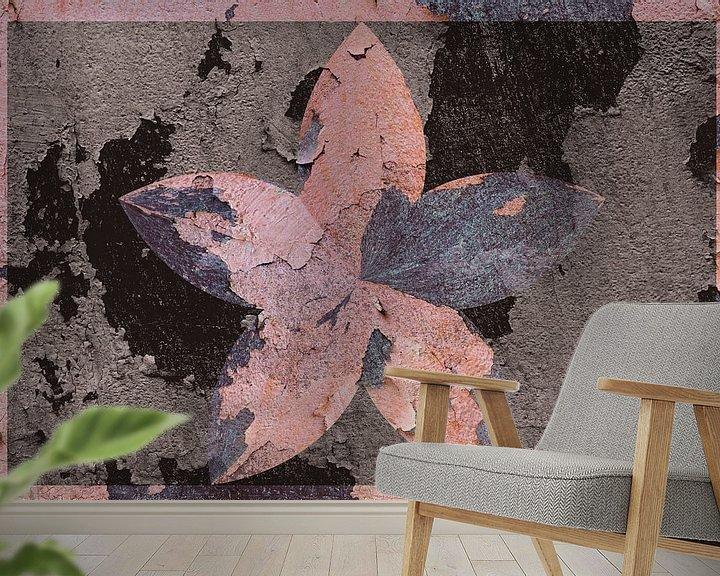 Beispiel fototapete: Figuren und Formen - Blütenfresko von Christine Nöhmeier