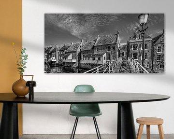 De hangende keukens van Appingedam in zwart/wit sur Harrie Muis