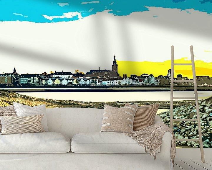 Sfeerimpressie behang: Nijmegen in avondlicht van Maerten Prins