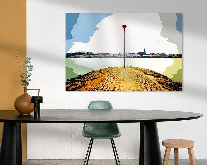 Sfeerimpressie: Skyline Nijmegen van Maerten Prins