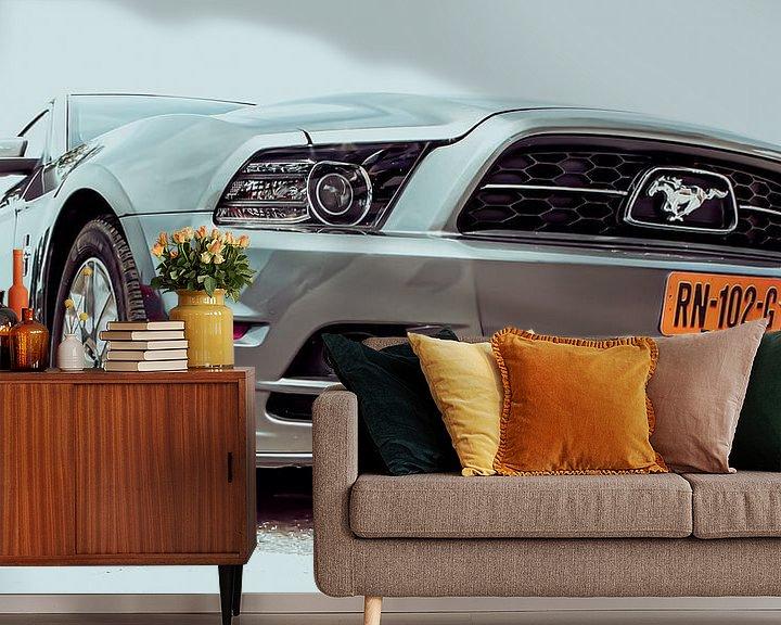 Sfeerimpressie behang: Mustang van marco de Jonge