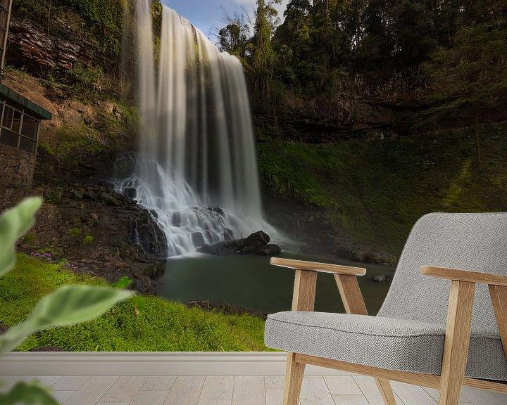 Beispiel fototapete: Die Basis des Dambri-Wasserfalls - Vietnam von Thijs van den Broek