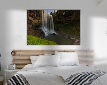 De basis van de Dambri-waterval - Vietnam