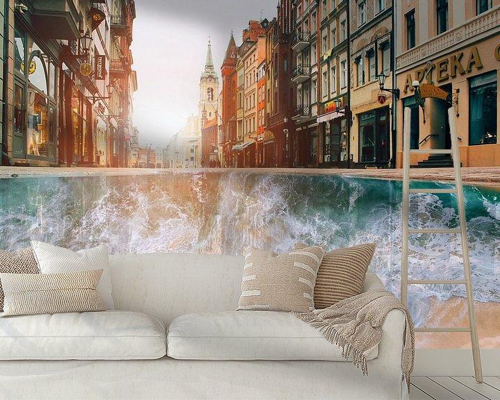 Sfeerimpressie behang: Got to Love the beach! van Nienke Den Daas