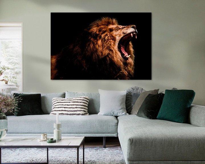 Beispiel: lion male roaring von nathalie Peters Koopmans