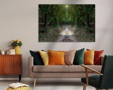Geheimnisvoller kaleidoskopischer Waldweg von Carin Klabbers