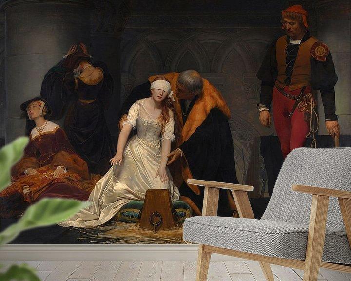 Beispiel fototapete: Die Hinrichtung der Lady Jane Grey, Paul Delaroche