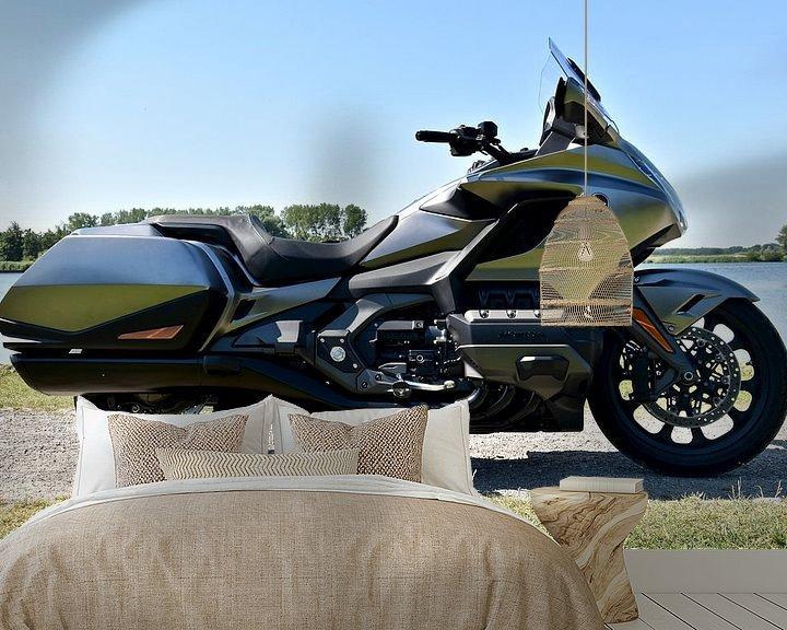 Sfeerimpressie behang: Honda GL1800 Goldwing van Jan Radstake
