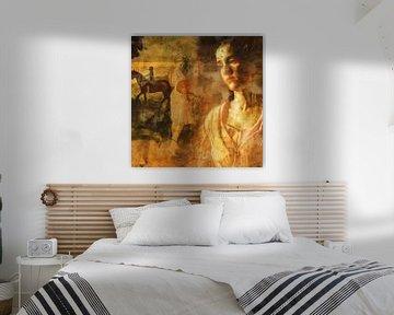 Klassische Collage mit Träumern und Reiter von Joost Hogervorst