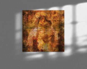 Klassische Collage mit Madonna und Kind von Joost Hogervorst