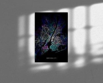 New York City abstrakte Karte von Art By Dominic