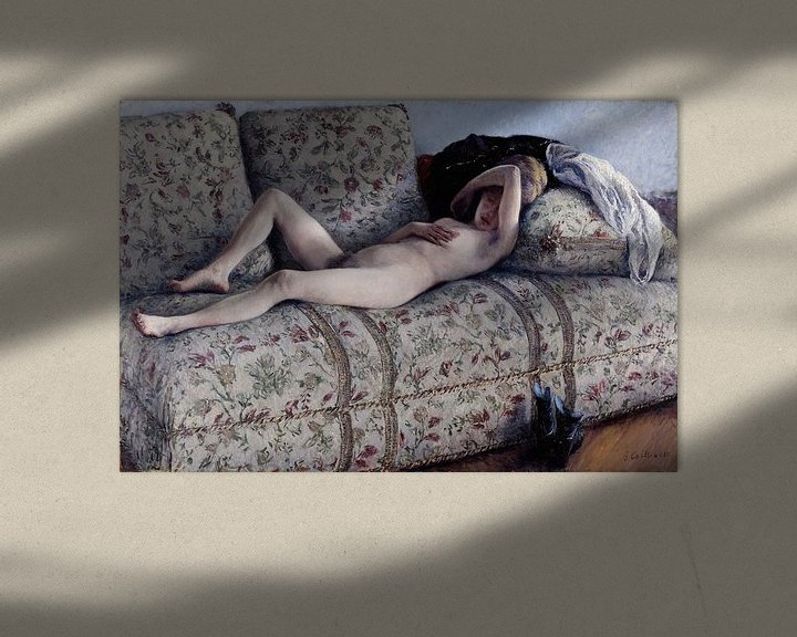 Beispiel: Nude on a Couch, Gustave Caillebotte
