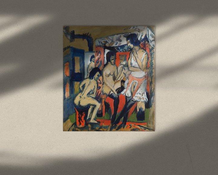 Beispiel: Nudes in Studio, Ernst Ludwig Kirchner