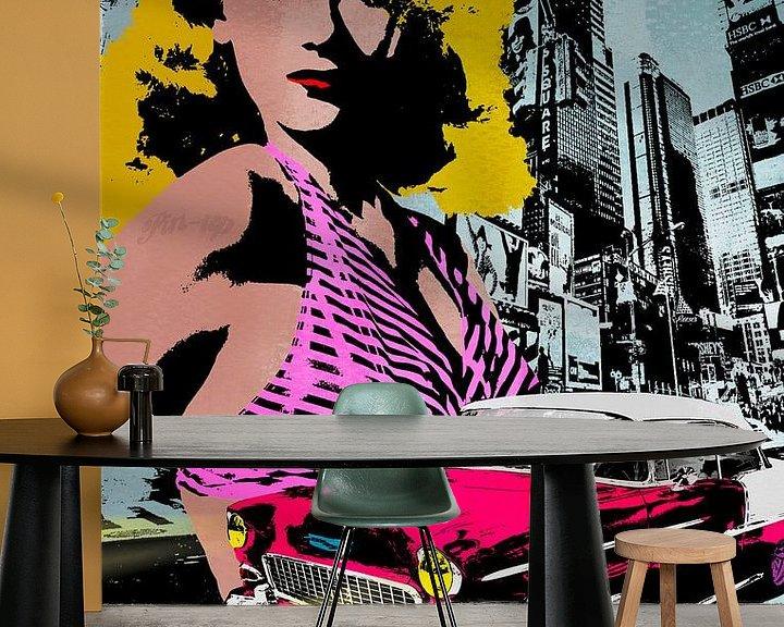 Sfeerimpressie behang: City Sexy van Rob van der Teen