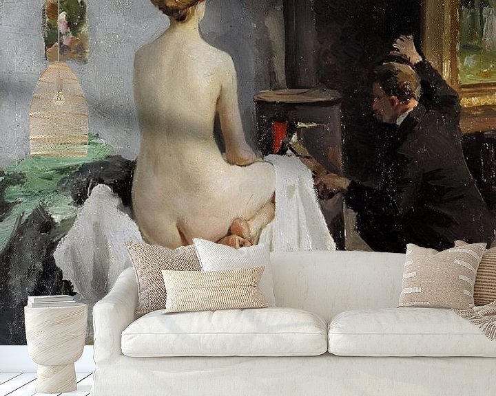 Beispiel fototapete: The Painter's Studio, Janis Rozentāls
