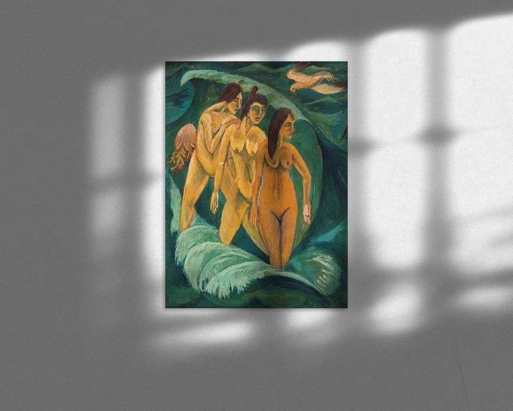 Beispiel: Three bathers, Ernst Ludwig Kirchner