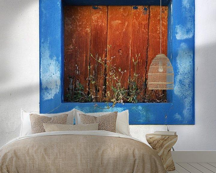 Beispiel fototapete: Blauw kader raam von Bram Busink