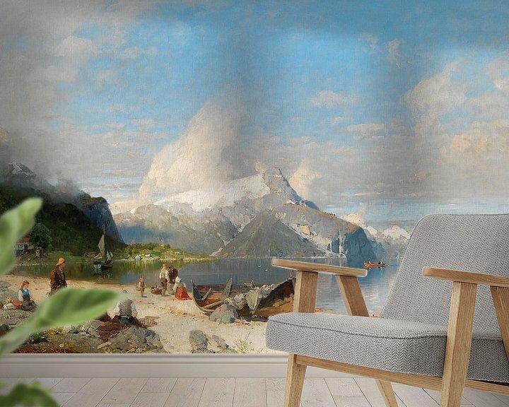 Beispiel fototapete: A summer day by the fjord, Georg Anton Rasmussen