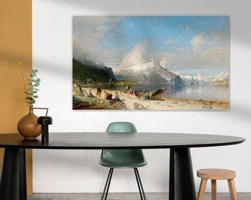Een zomerdag bij het fjord, Georg Anton Rasmussen