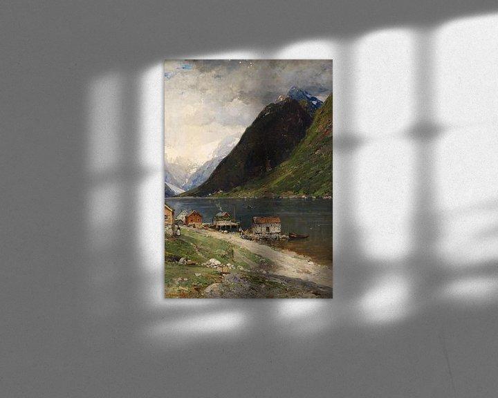 Beispiel: Fjordlandschaft, Georg Anton Rasmussen