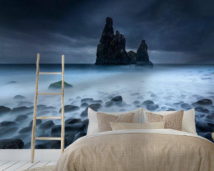 Sfeerimpressie behang: Rotspieken in de zee van Ellen van den Doel