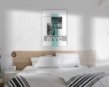 Poster Art NYC Brooklyn Bridge von Melanie Viola