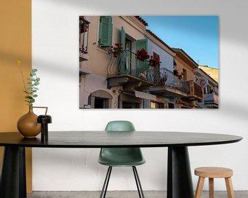 gekleurde italiaanse balkons sur Eline Oostingh