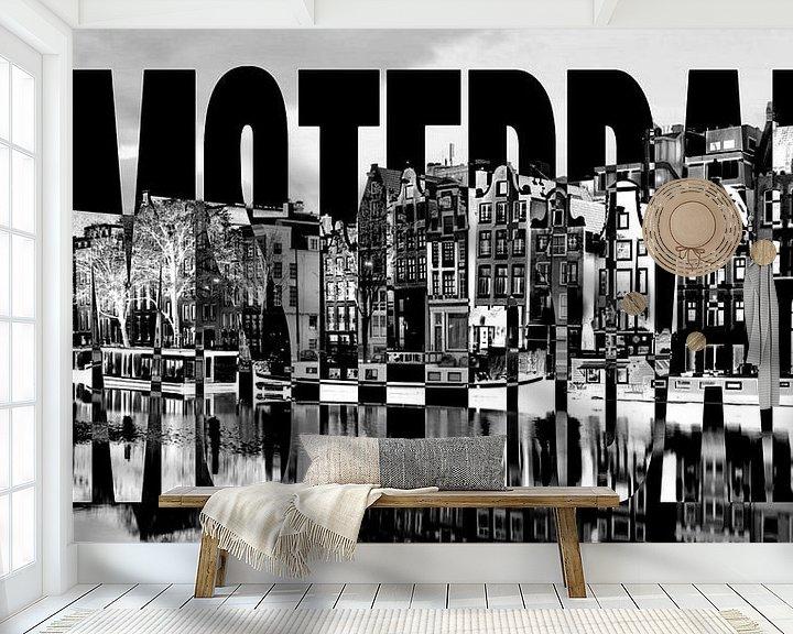 Beispiel fototapete: Amsterdam Hafen Grachten von Bass Artist