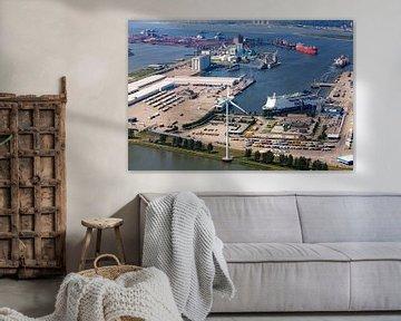 Luchtfoto P&O Ferries Rotterdam