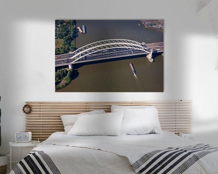Sfeerimpressie: Luchtfoto Van Brienenoordbrug te Rotterdam 2 van Anton de Zeeuw