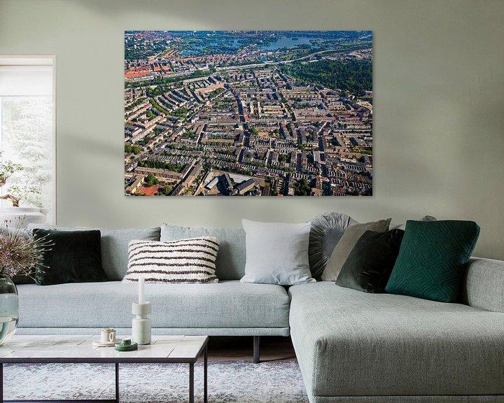 Sfeerimpressie: Luchtfoto Oude Noorden te Rotterdam van Anton de Zeeuw