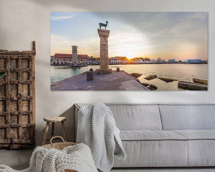 Impression: Port de Mandraki sur Rhodes sur Werner Dieterich