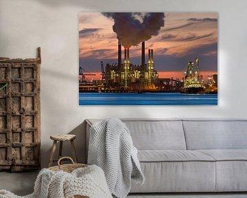 Nachtfoto Centrale Maasvlakte Rotterdamse haven