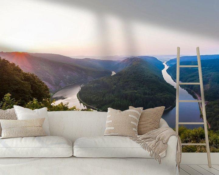 Sfeerimpressie behang: Saarlus bij zonsopgang van Werner Dieterich