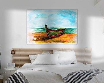 Portugiesisches Fischerboot. von Ineke de Rijk