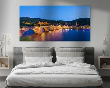Heidelberg bij nacht van Werner Dieterich