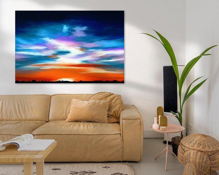 Beispiel: Landschaft mit einem dramatischen Himmel von Tanja Udelhofen
