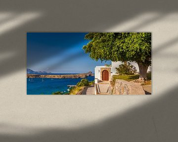 Lindos on Rhodes Island van Werner Dieterich