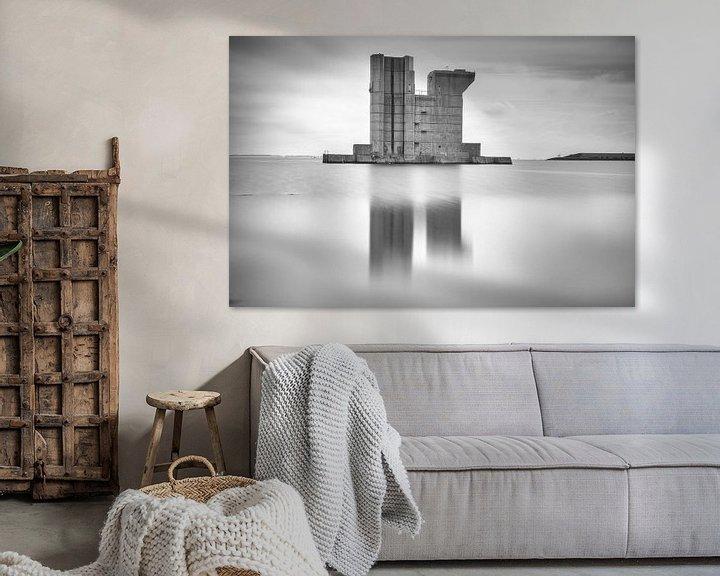 Sfeerimpressie: Pijler van de Delta waterkering van Jan van der Vlies