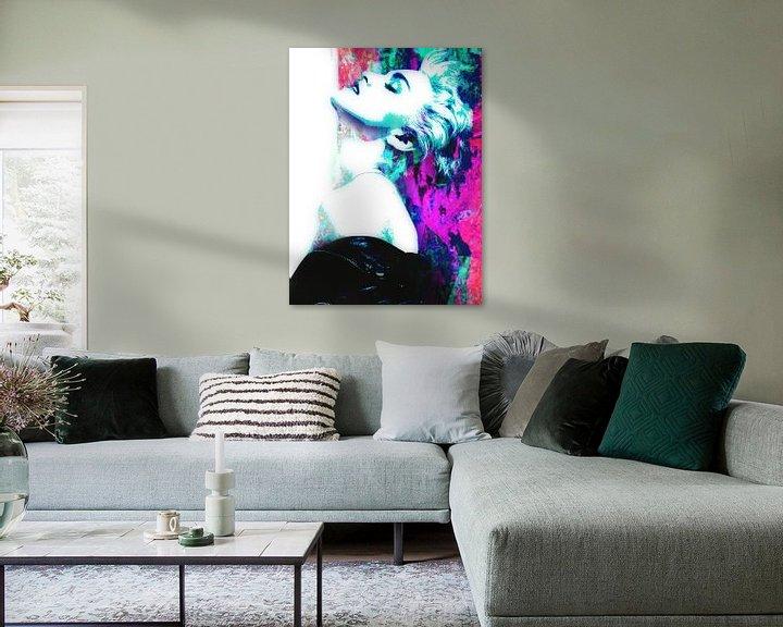 Beispiel: Madonna True Blue Abstrakt Portrait von Art By Dominic