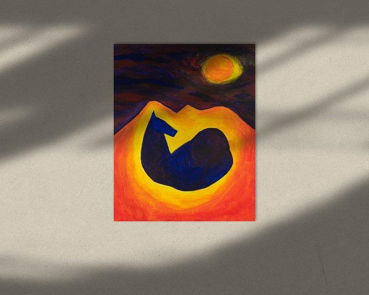 Sfeerimpressie: paard in de nacht (2) van Verbeeldt
