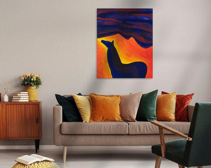 Sfeerimpressie: paard in de nacht (1) van Verbeeldt