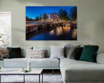 Keizersgracht Amsterdam nach Sonnenuntergang von Arthur Puls Photography